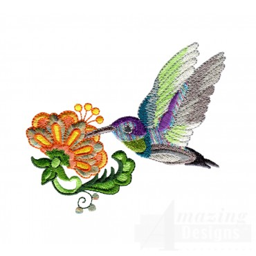 Hummingbird 2 Embroidery Design