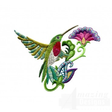 Hummingbird 4 Embroidery Design