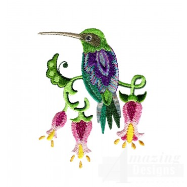 Hummingbird 6 Embroidery Design
