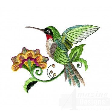 Hummingbird 7 Embroidery Design