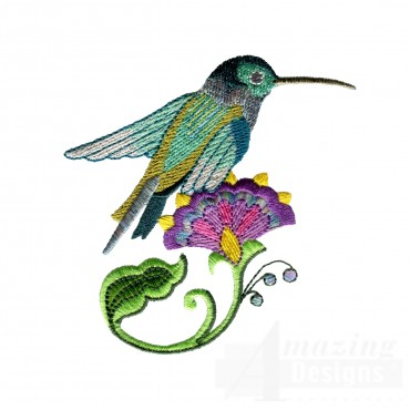 Hummingbird 8 Embroidery Design