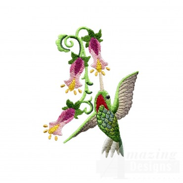 Hummingbird 12 Embroidery Design