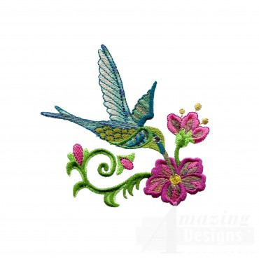Hummingbird 13 Embroidery Design