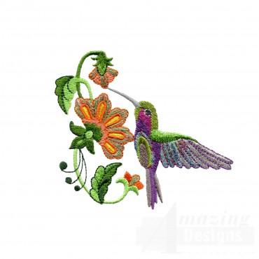 Hummingbird 14 Embroidery Design