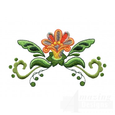 Hummingbird Flower 1 Embroidery Design