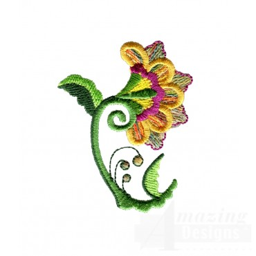 Hummingbird Flower 2 Embroidery Design