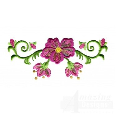 Hummingbird Flower 3 Embroidery Design
