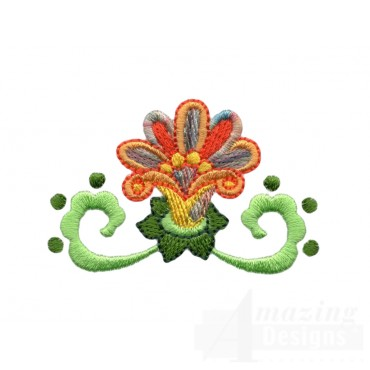 Hummingbird Flower 5 Embroidery Design