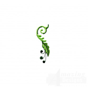 Hummingbird Vine 2 Embroidery Design