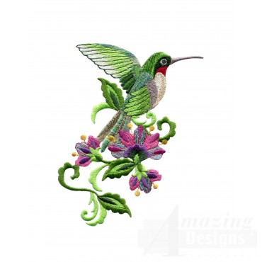 Hummingbird 16 Embroidery Design