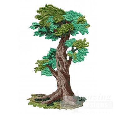 Majestic Tree Embroidery Design