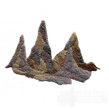 Stalagmites Embroidery Design