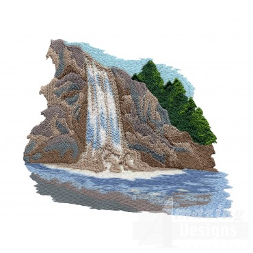 Great Waterfall Embroidery Design