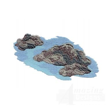 River Rocks Embroidery Design