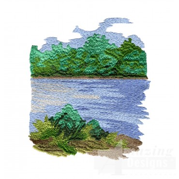 Old River Embroidery Design