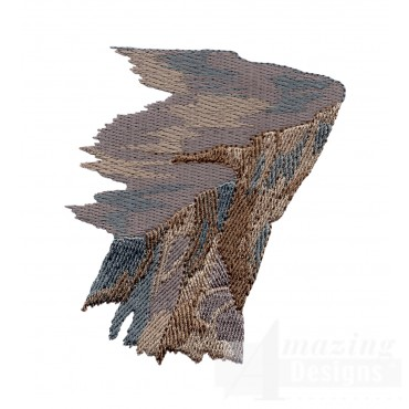 Rocky Cliff Embroidery Design