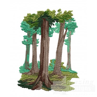 Dense Forest Embroidery Design