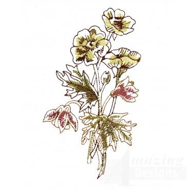 Artists Garden Flower Group 5 Embroidery Design