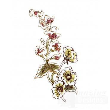 Artists Garden Flower Group 6 Embroidery Design