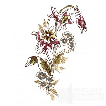 Artists Garden Flower Group 7 Embroidery Design