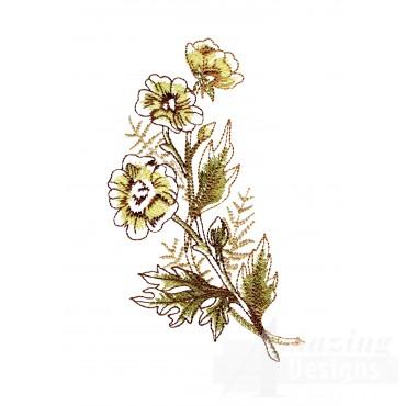 Artists Garden Flower 2 Embroidery Design