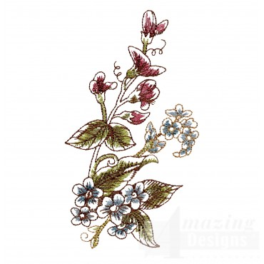 Artists Garden Flower Group 17 Embroidery Design