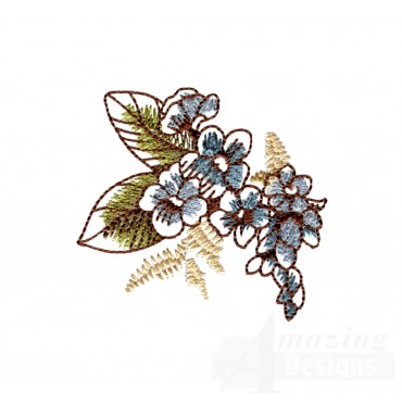 Artists Garden Flower 8 Embroidery Design