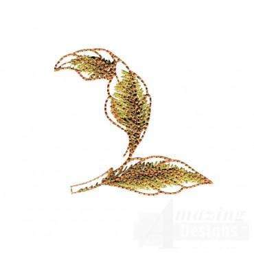 Artists Garden Leaf 4 Embroidery Design
