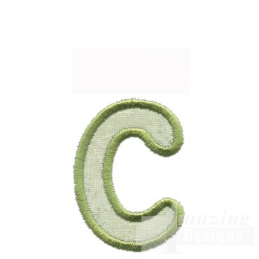 Lower Case C Applique Embroidery Design
