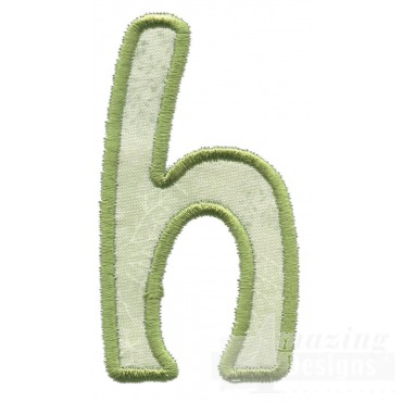 Lower Case H Applique Embroidery Design