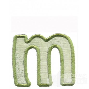 Lower Case M Applique Embroidery Design