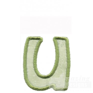 Lower Case U Applique Embroidery Design