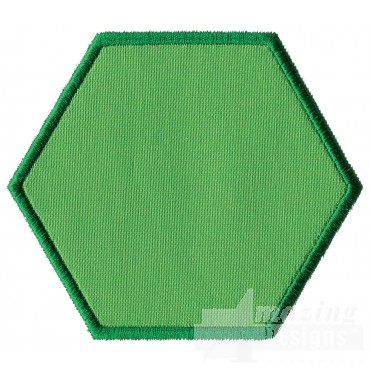 Hexagon Applique Embroidery Design