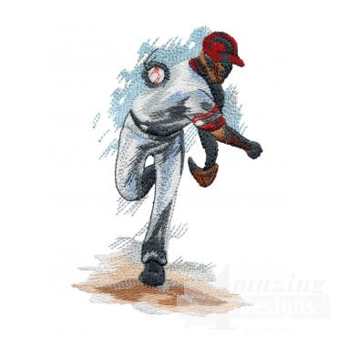 90 Mph Pitch Game Day Baseball Embroidery Design