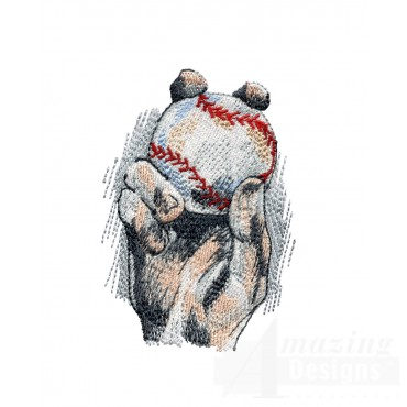 The Grip Game Day Baseball Embroidery Design
