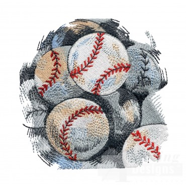 Ball Bag Game Day Baseball Embroidery Design