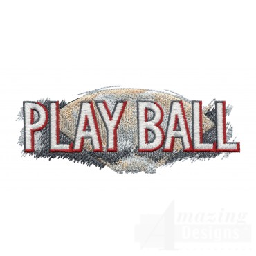 Play Ball Game Day Baseball Embroidery Design