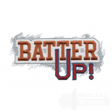 Batter Up Game Day Baseball Embroidery Design