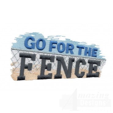 Go For The Fence Baseball Embroidery Design