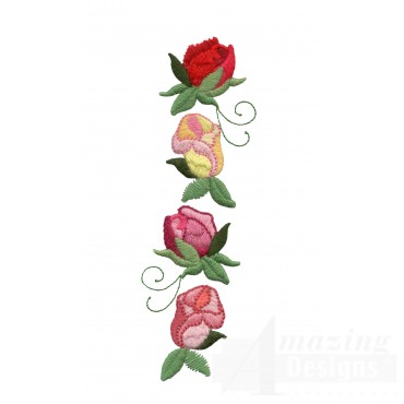 Rose Line Embroidery Design