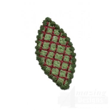 Decorative Leaf Embroidery Design