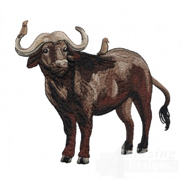 Buffalo Serengeti Pride Embroidery Design