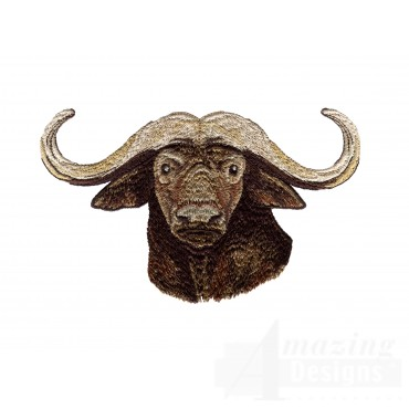 Buffalo Head Serengeti Pride Embroidery Design