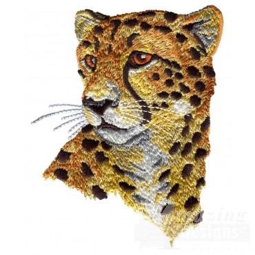 Cheetah Head Serengeti Pride Embroidery Design