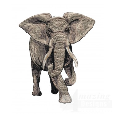 Elephant Serengeti Pride Embroidery Design
