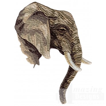 Elephant Head Serengeti Pride Embroidery Design