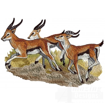 Gazelle Scene Serengeti Pride Embroidery Design