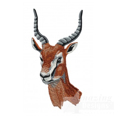 Gazelle Head Serengeti Pride Embroidery Design