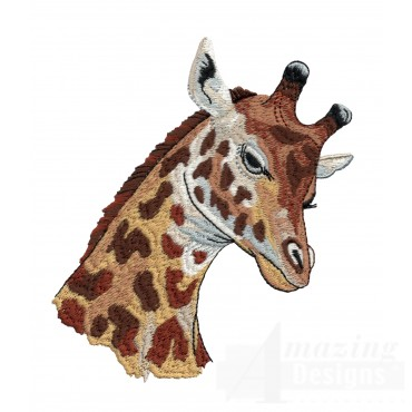 Giraffe Head Serengeti Pride Embroidery Design