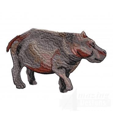 Hippo Serengeti Pride Embroidery Design